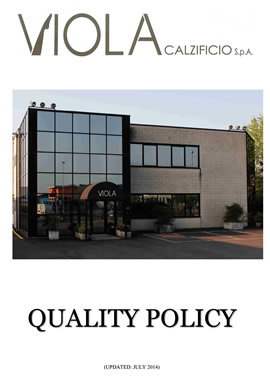 quality policy viola calzificio